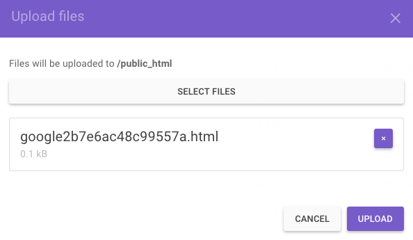 Uploading Verification File for Search Console
