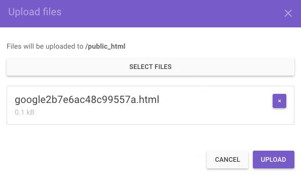 Mengupload File Verifikasi untuk Search Console
