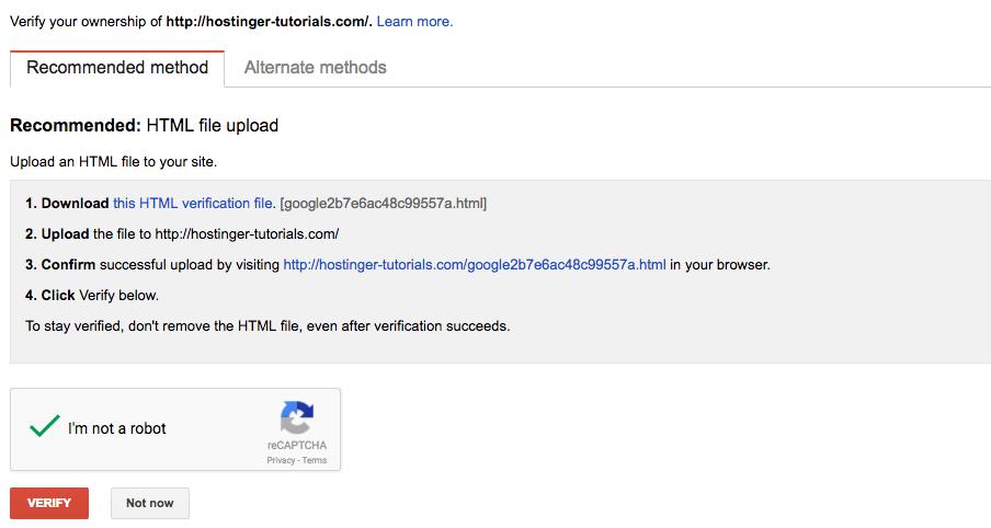 Verifikasi Kepemilikan Situs oleh Tool Webmaster