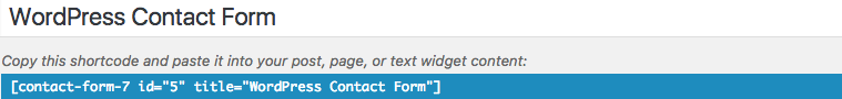 Contact form 7 Shortcut