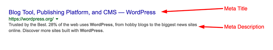 WordPress Meta Description and Meta Title in Google Search Results