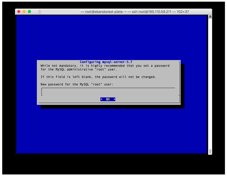 Installing LAMP on Ubuntu - MySQL Password