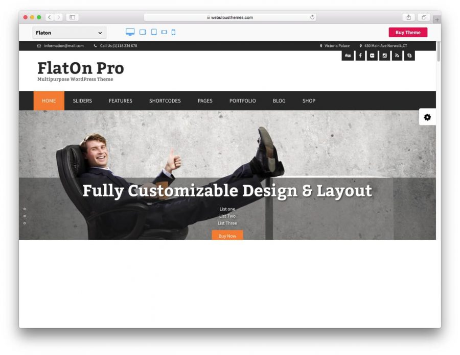 FlatOn WordPress Tema