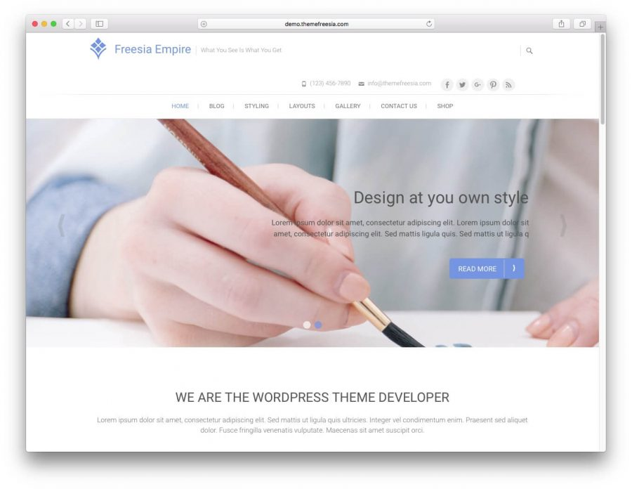Freesia Empire WordPress Teması