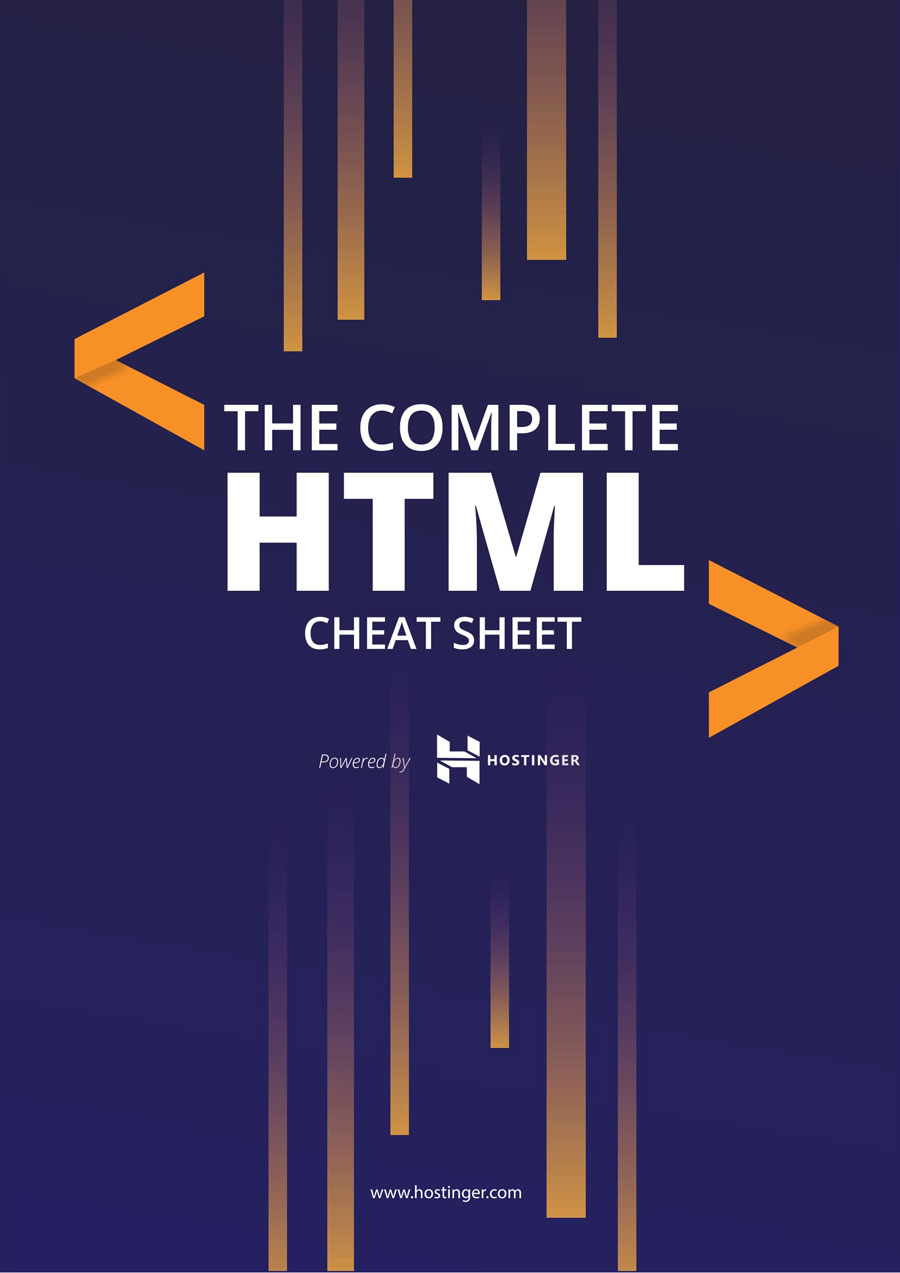 HTML Cheat Sheet for 2019 (New HTML5 Tags Included) in PDF
