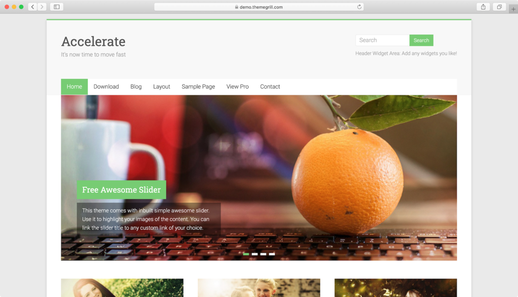 Accelerate WordPress theme.