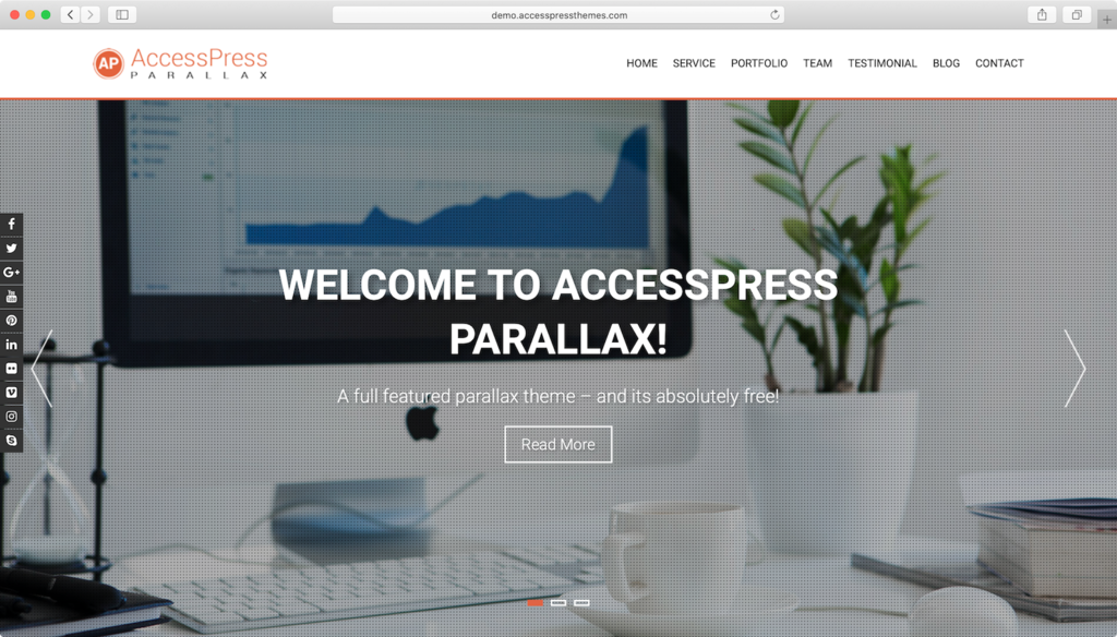 AccessPress Parallax WordPress theme.