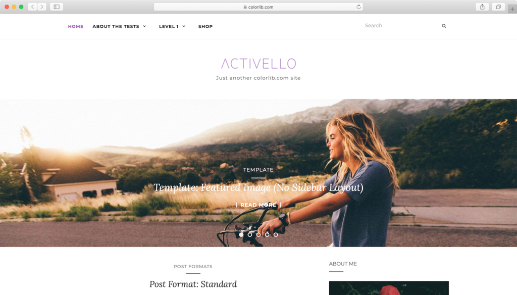 Activello WordPress theme.
