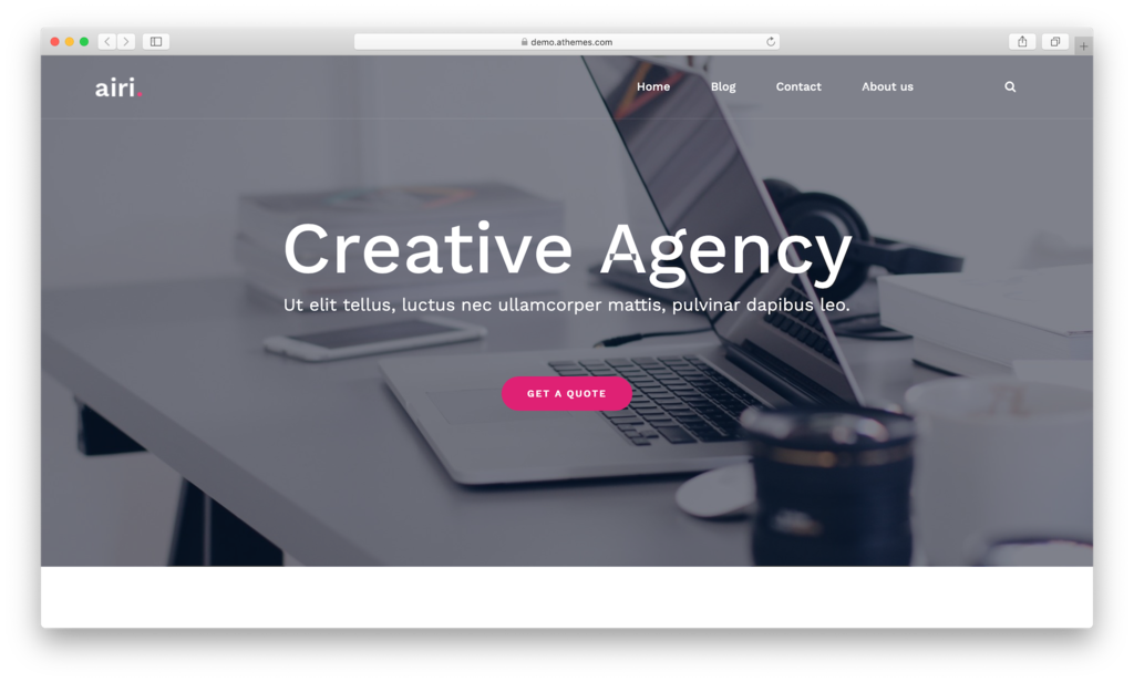 Airi WordPress theme.