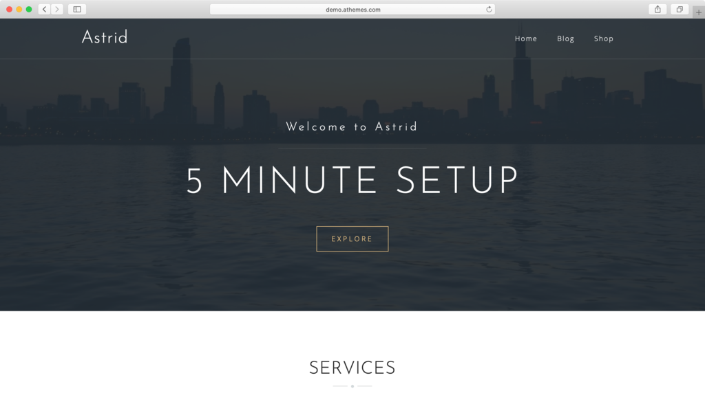 Astrid WordPress theme.