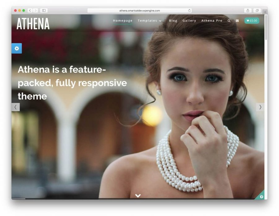 The Athena demo page.