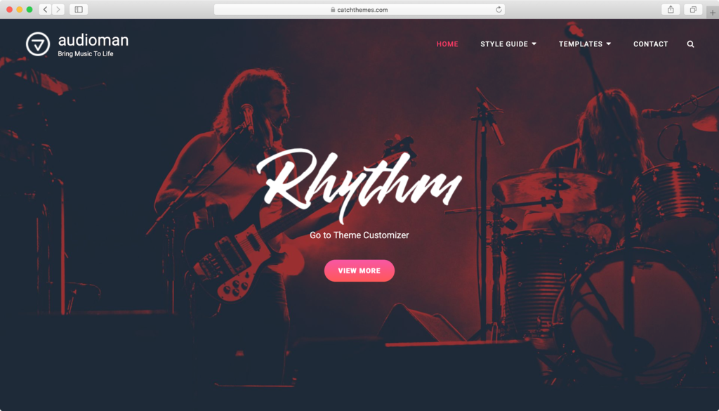 WordPress theme Audioman Miễn phí