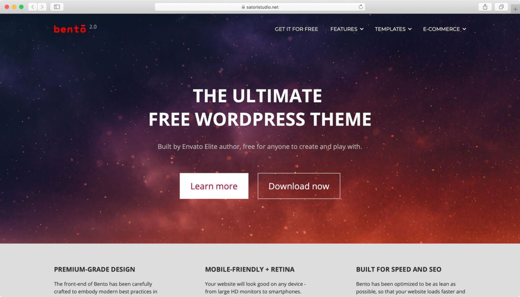 Bento WordPress theme.