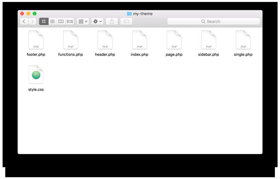 Create WordPress Theme Files