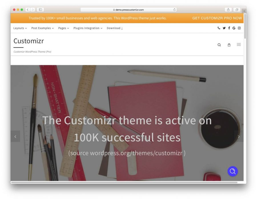 Customizr WordPress Teması