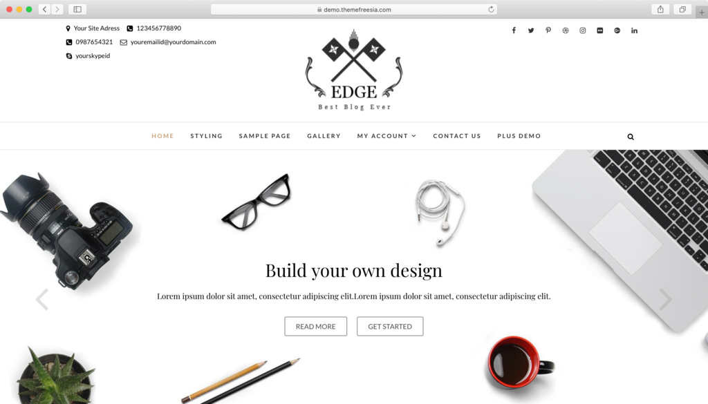 Edge WordPress theme.