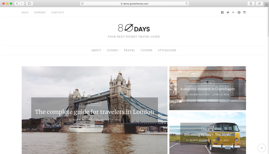 EightyDays WordPress theme Free