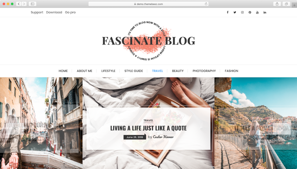 WordPress theme free Fascinate