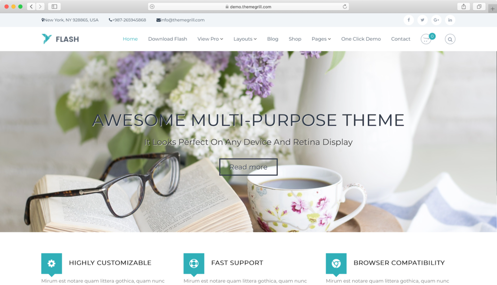 Flash WordPress theme.