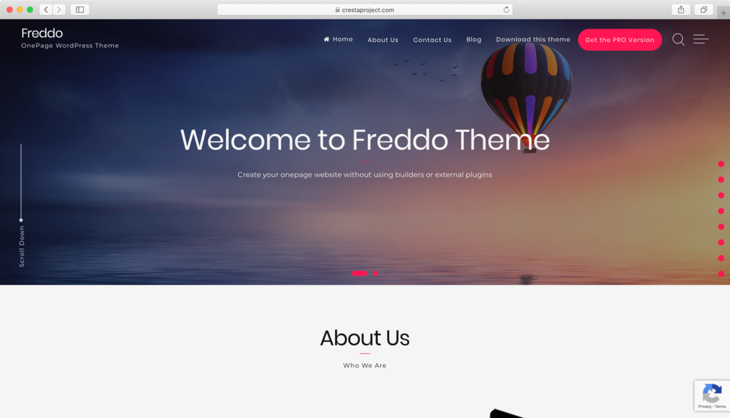 Freddo WordPress theme.