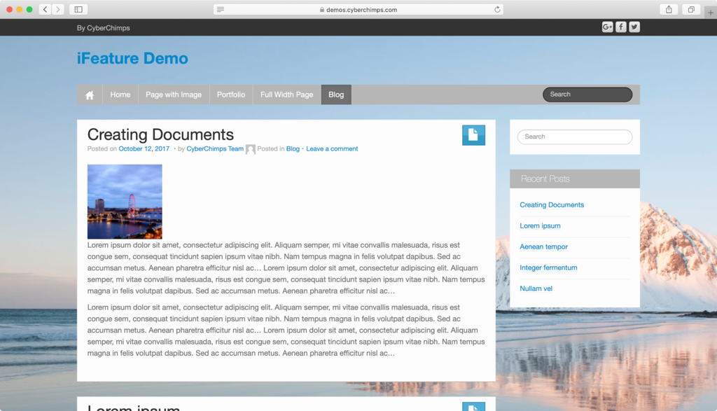 iFeature WordPress theme.