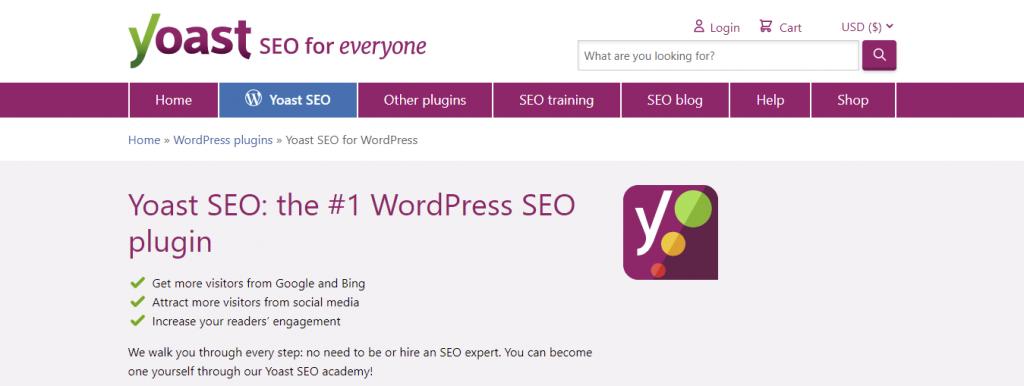 Screenshot showing SEO Yoast plugin