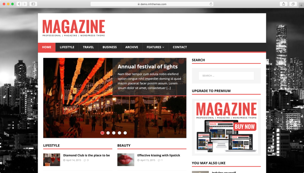 MH Magazine Lite WordPress theme.