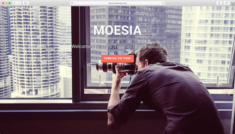 Moesia WordPress theme.