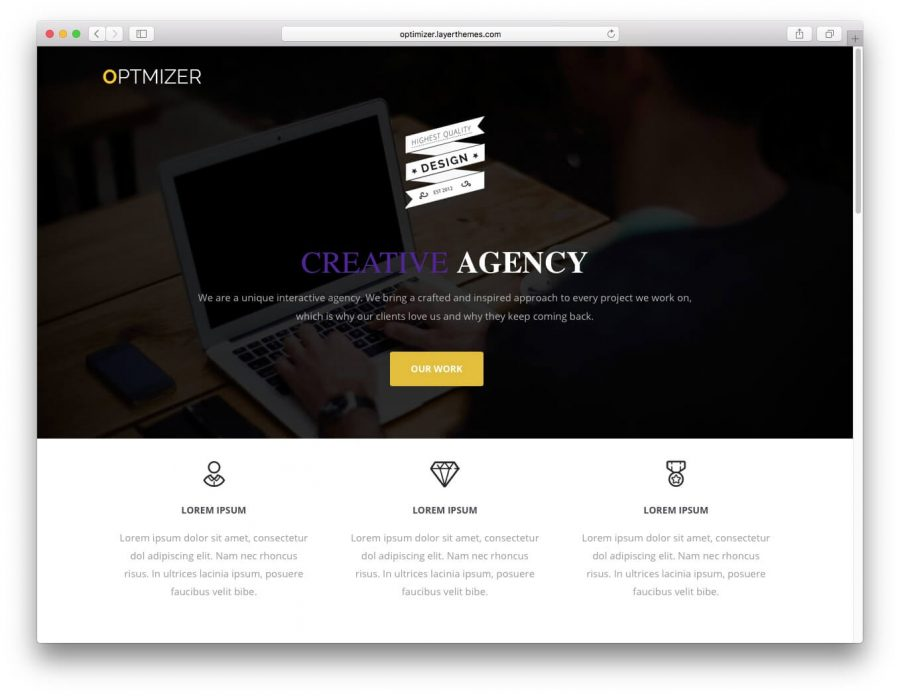 Optimizer WordPress Teması