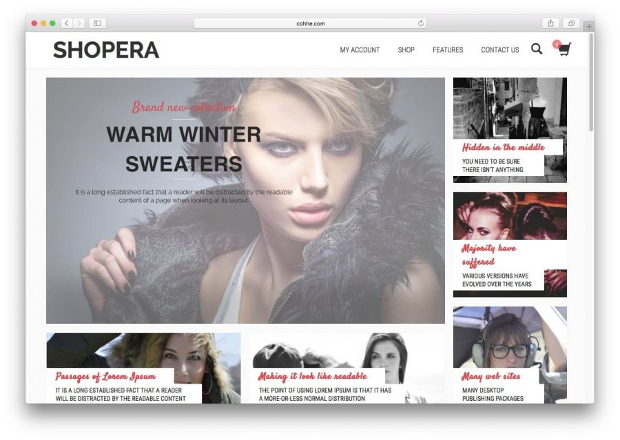 Shopera WordPress Tema