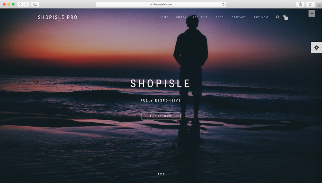 ShopIsle WordPress theme.