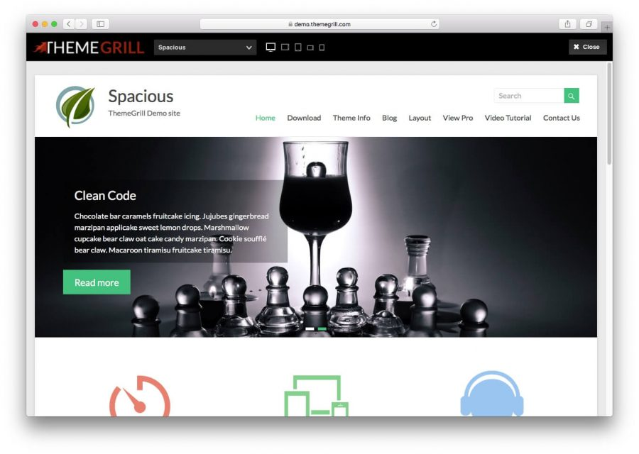 Spacious WordPress Teması
