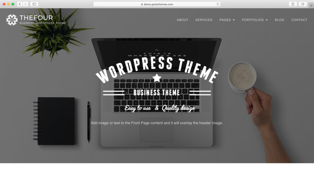 TheFour Lite WordPress theme.
