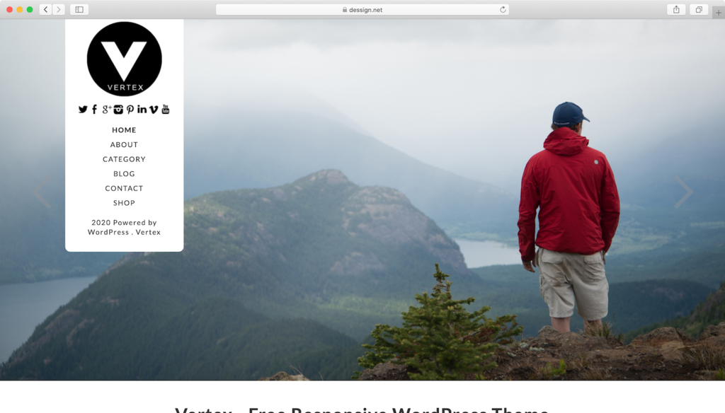 Vertex WordPress theme.