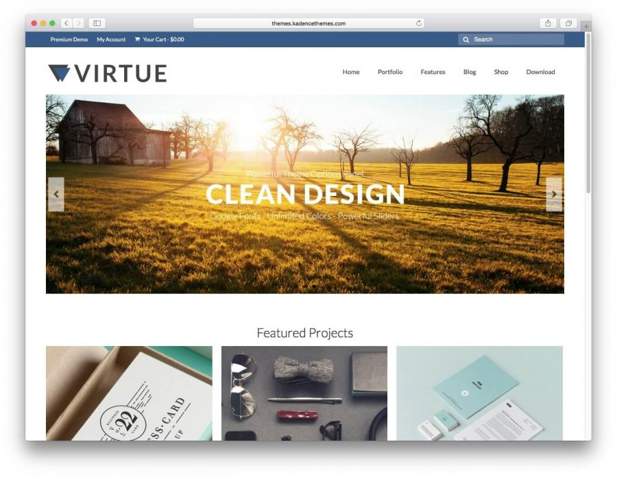 Virtue WordPress Tema