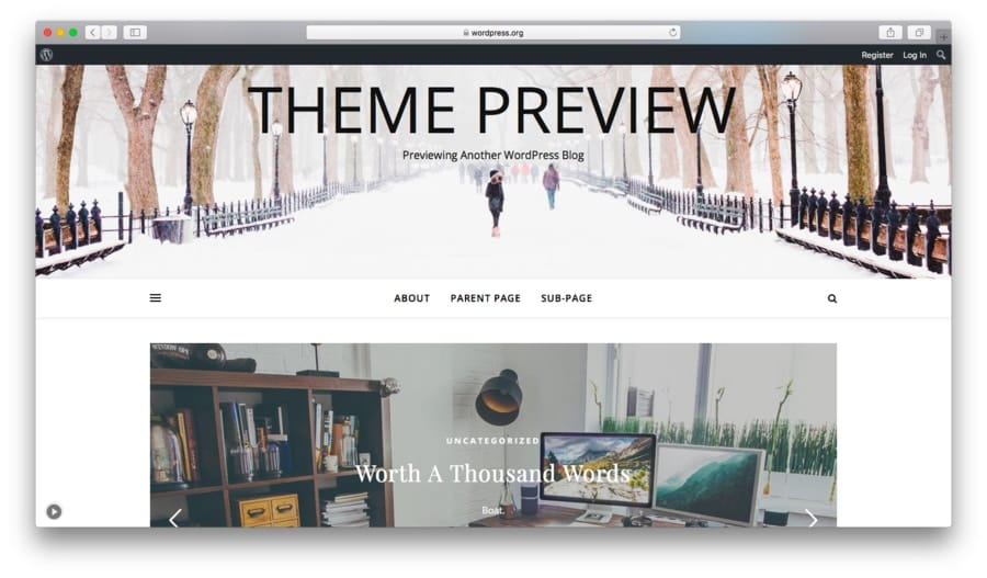 Ashe free WordPress theme preview