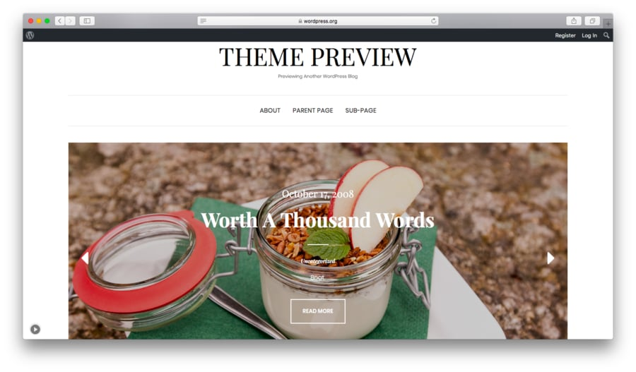 Elara free WordPress theme preview