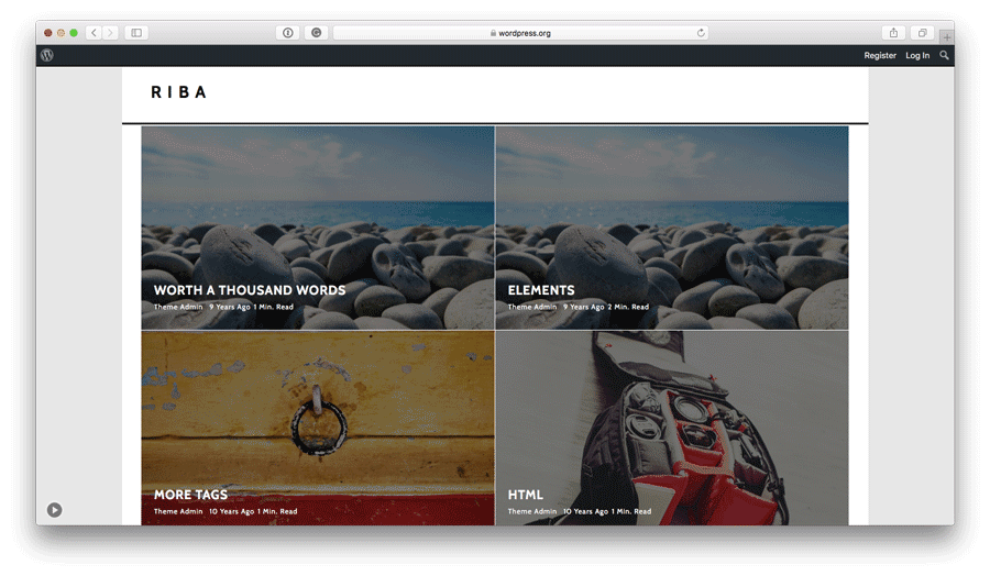 Riba Lite free WordPress theme preview