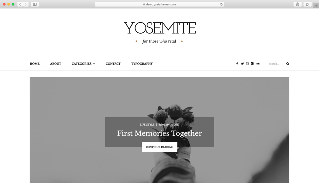 Yosemite WordPress theme.