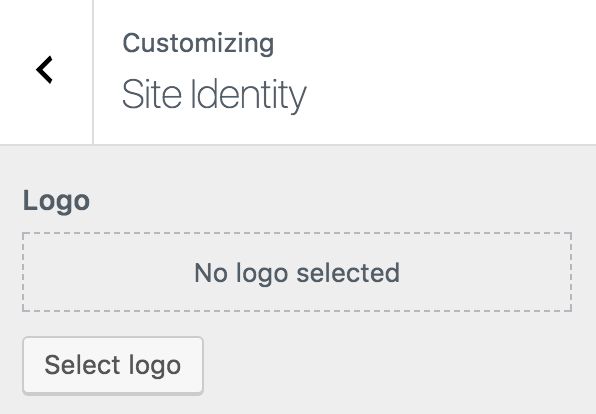 WordPress customizer site identity
