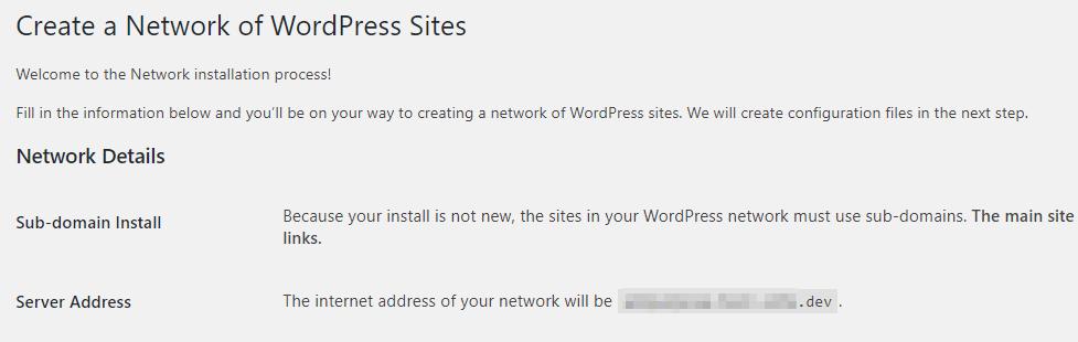 Mengaktifkan Multisite untuk website lama.