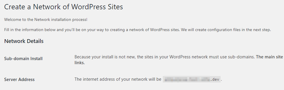 Enabling Multisite for an existing website.
