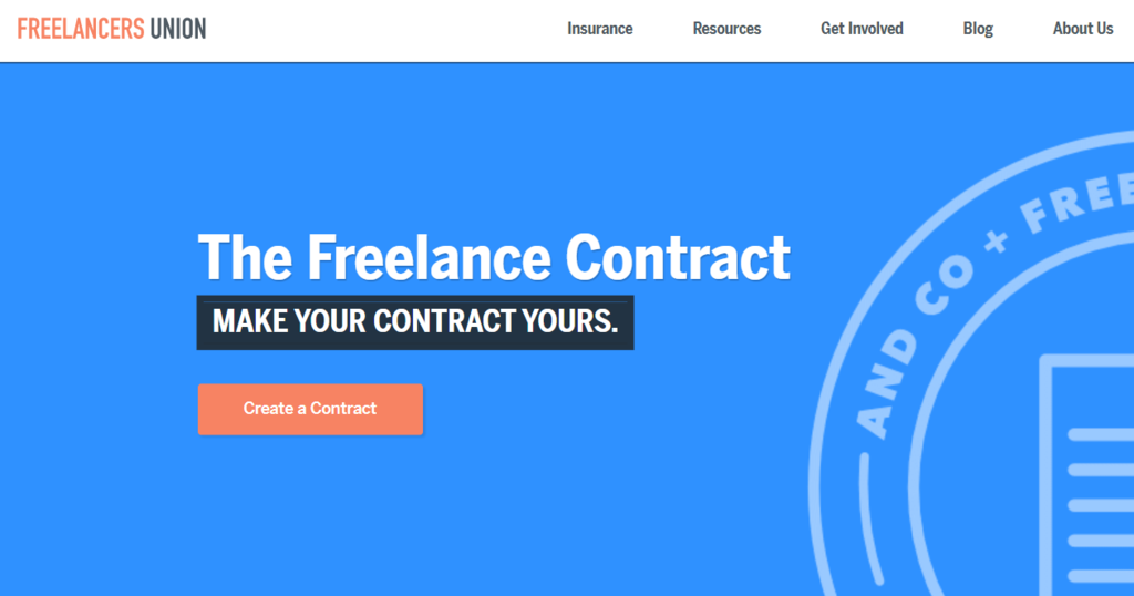 Freelancers Union generates highly customizable professional digital contract in an instant.