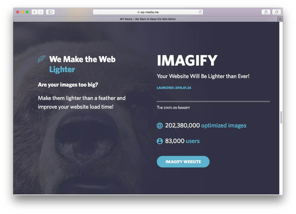 Plugin Imagify Image Optimizer
