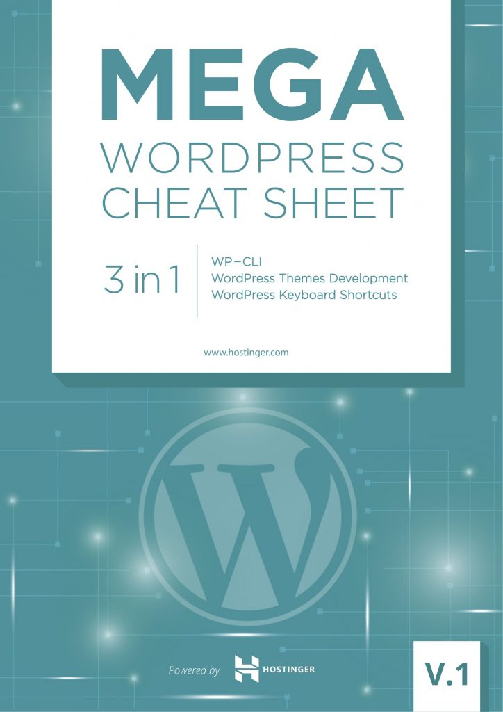 Mega WordPress Cheat Sheet