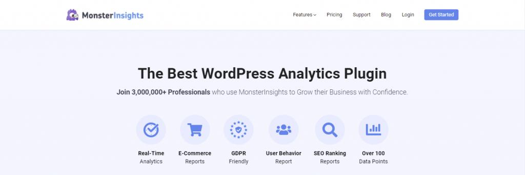 Monster Insights WordPress plugin