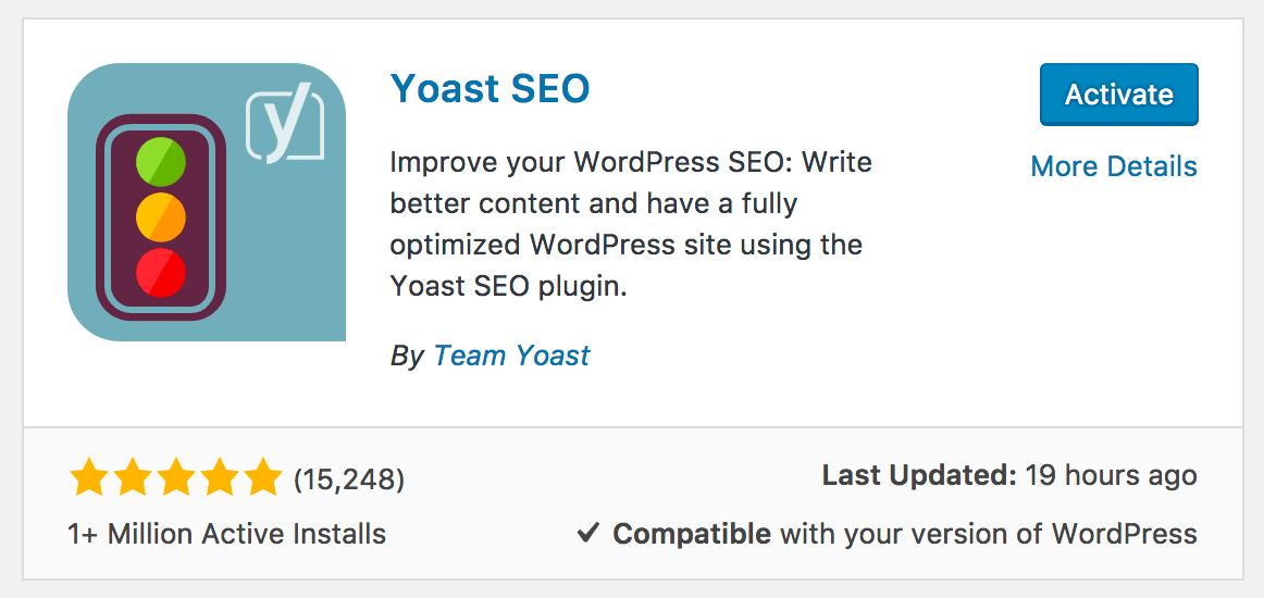 WordPress plugins activation