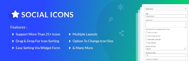 Social Icons WordPress plugin