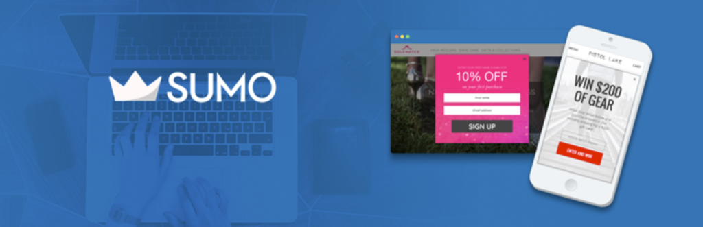 Banner of Sumo, one of the best WordPress plugins to boost sales