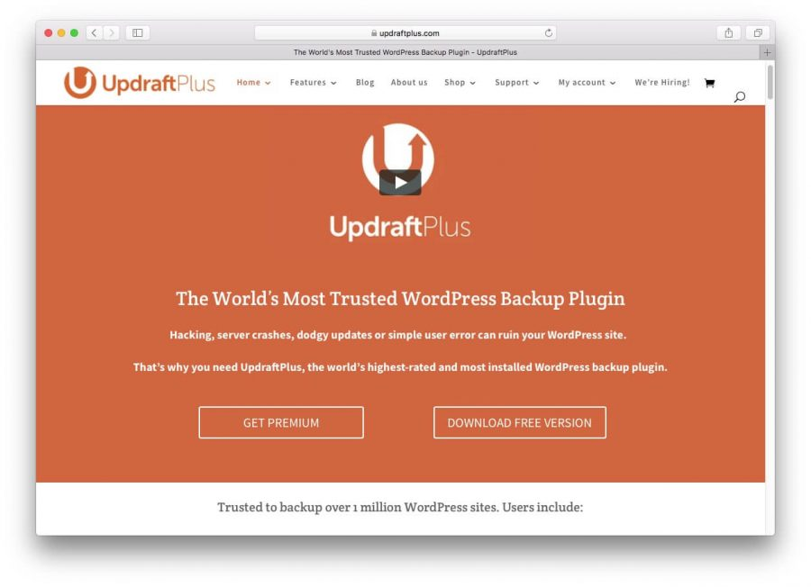 Plugin Updraft Plus